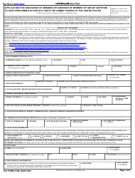 """DD Form 2168 """"Application for Discharge of Member or Survivor of Member of Group Certified to Have Performed Active Duty With the Armed Forces of the United States"""""""