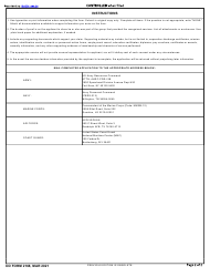"""DD Form 2168 """"Application for Discharge of Member or Survivor of Member of Group Certified to Have Performed Active Duty With the Armed Forces of the United States"""", Page 2"""