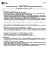"Form 1342 ""Antiviral Agents for Hepatitis C Virus Initial Request - Standard Pa Addendum (Medicaid)"" - Texas"