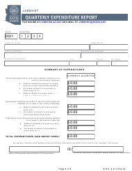 """Lobbyist Quarterly Expenditure Report"" - Arizona, 2021"