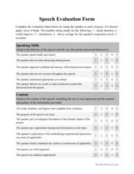 """Speech Evaluation Form"""