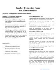 """Teacher Evaluation Form for Administrators"""