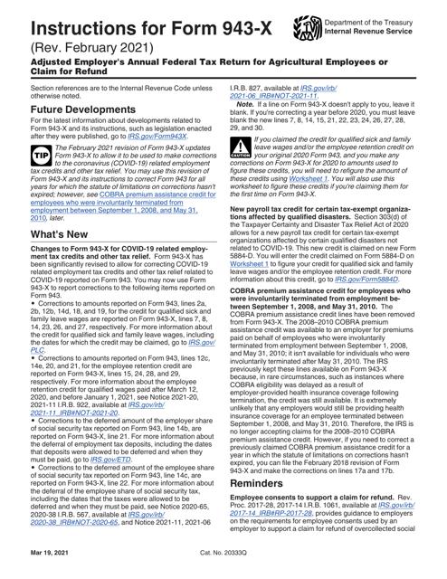 IRS Form 943-X Printable Pdf