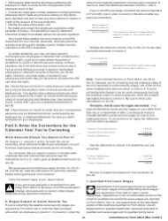 """Instructions for IRS Form 943-X """"Adjusted Employer's Annual Federal Tax Return for Agricultural Employees or Claim for Refund"""", Page 8"""