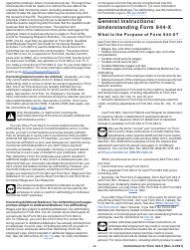 """Instructions for IRS Form 944-X """"Adjusted Employer's Annual Federal Tax Return or Claim for Refund"""", Page 2"""