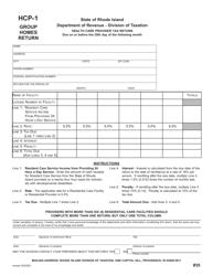 "Form HCP-1 ""Health Care Provider Tax Return"" - Rhode Island"