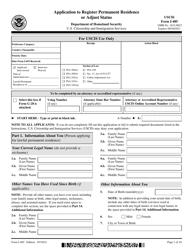 "USCIS Form I-485 ""Application to Register Permanent Residence or Adjust Status"""