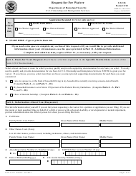"USCIS Form I-912 ""Request for Fee Waiver"""