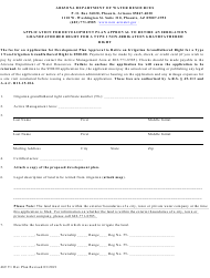 """Form 469 """"Application for Development Plan Approval to Retire an Irrigation Grandfathered Right for a Type 1 Non-irrigation Grandfathered Right"""" - Arizona"""