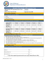 """Alternative Work Schedule (Aws) Agreement Form"" - Delaware"