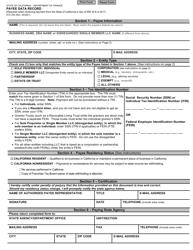 "Form STD204 ""Payee Data Record"" - California"