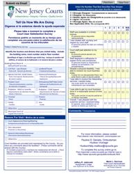 "Form 10673 ""Court User Satisfaction Survey - Hudson"" - New Jersey (English/Spanish)"