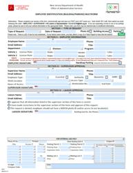 "Form FM-7 ""Employee Identification (Building/Parking) Multiform"" - New Jersey"