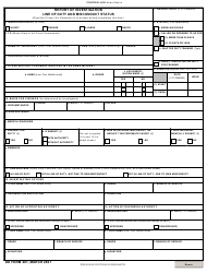 """DD Form 261 """"Report of Investigation Line of Duty and Misconduct Status"""""""