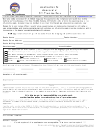 """Form MV68 """"Application for Approval of off-Premise Sale"""" - Montana"""