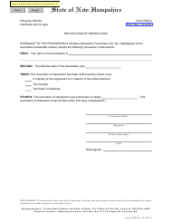 """Form FND-6 """"Certificate of Revocation of Dissolution"""" - New Hampshire"""