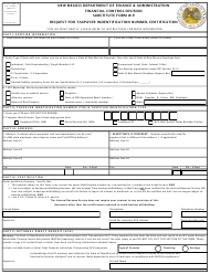 """""""Substitute Form W-9 - Request for Taxpayer Indentification Number, Certification"""" - New Mexico"""