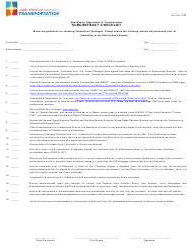 "Form A-1108 ""Subcontract Checklist"" - New Mexico"