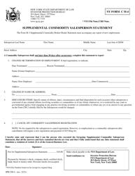 "Form CM-4 ""Supplemental Commodity Salesperson Statement"" - New York"