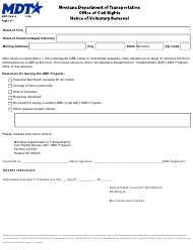 "Form MDT-CIV-019 ""Notice of Voluntary Removal"" - Montana"