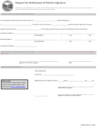 """""""Request for Withdrawal of Petition Signature"""" - Montana"""