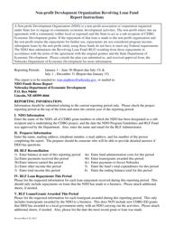 """Ndo Revolving Loan Fund Report"" - Nebraska"