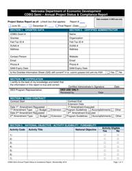 """""""Cdbg Semi-annual Project Status & Compliance Report"""" - Nebraska"""