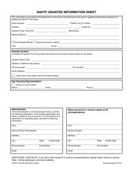 """""""Nahtf Grantee Information Sheet"""" - Nebraska"""