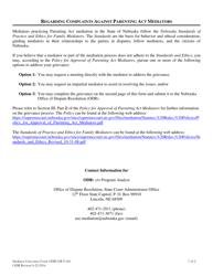 """Form ODR-GR-F-061 """"Mediator Grievance Form"""" - Nebraska"""
