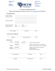 """Ce Vendor Travel Reimbursement Form"" - Nevada"