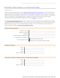 """Nonpublic School Guidance on Requesting Change"" - New Hampshire"
