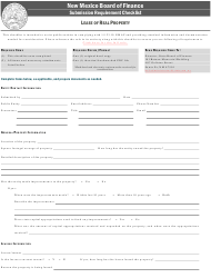 """""""Lease of Real Property Submission Requirement Checklist"""" - New Mexico"""