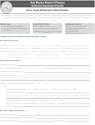 """""""Sales,trades & Donations of Real Property Submission Requirement Checklist"""" - New Mexico"""