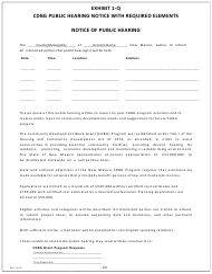 "Exhibit 1-Q ""Notice of Public Hearing"" - New Mexico (English/Spanish)"
