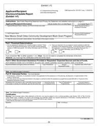 """Form HUD-2880 Exhibit 1-F """"Applicant/Recipient Disclosure/Update Report"""" - New Mexico"""