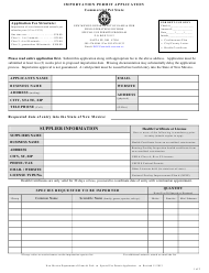 """""""Commercial Pet Store Importation Permit Application"""" - New Mexico"""