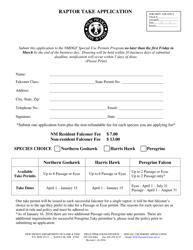 """Raptor Take Application"" - New Mexico"