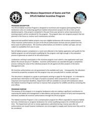"""Eplus Habitat Incentive Program Application"" - New Mexico, 2022"