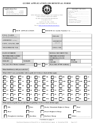 """""""Guide Application or Renewal Form"""" - New Mexico"""