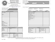 """""""Bowhunter Supply Requisition Form"""" - New Mexico"""