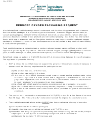 """Form FSI-804 """"Reduced Oxygen Packaging Request Form"""" - New York"""