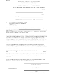 """Form AD-26 """"Farm Products Dealer Irrevocable Letter of Credit"""" - New York"""