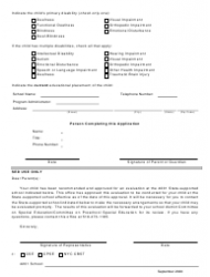 """Form PHC-10 """"Application to the Commissioner of Education for Approval for an Evaluation to Attend a 4201 State-Supported School"""" - New York, Page 2"""