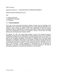 "Form FB101 Annex E ""Supervisory Policy G 7"" - New York"