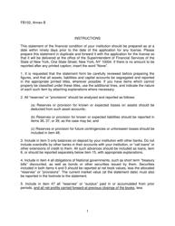 "Form FB102 Annex B ""Statement of Financial Condition"" - New York"