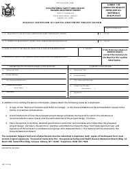 """Form HB1 """"Request for Review of Capital Abatement Project Design"""" - New York"""
