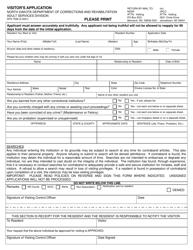 "Form SFN7598 ""Visitor's Application"" - North Dakota"