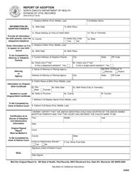 "Form SFN6739 ""Report of Adoption"" - North Dakota"