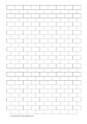 Black Brick Pattern Graph Paper