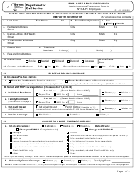 """Form PS-404 """"Health Insurance Transaction Form for NYS & Pe Employees"""" - New York"""